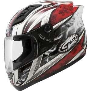 GM69 Full Face Street Helmet   White/Red 2X   72 48812X Automotive
