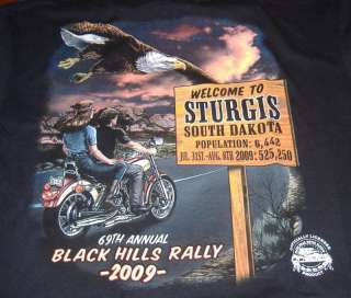 Sturgis Bike Rally 2009 Population Sign T Shirt
