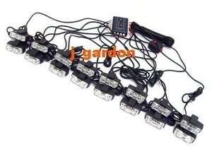NEW CAR 2x 16 LED 1W EMERGENCY STROBE GRILL LIGHT 1T16