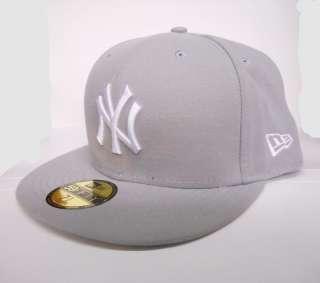 New Era 5950 New York Yankees   NY   WHITE on SILVER GREY   MLB