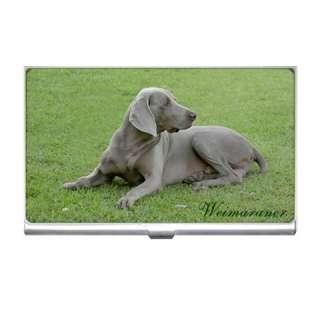Weimaraner Dog Puppies Credit Business Card Holder Case