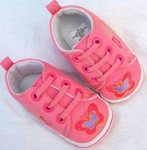 pink kids toddler baby girl tennis shoes size 2 3
