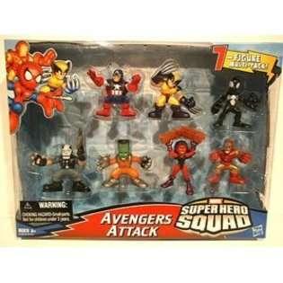Hasbro Marvel Superhero Squad Mini Figure 7Pack Avengers Attack