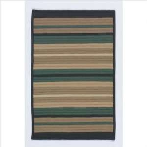 Simply Home Rally Dark Green Indoor/Outdoor Braided Rug
