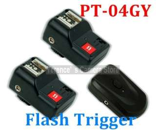 GY 4 Channels Wireless/Radio Flash Trigger SET with 2 Receivers