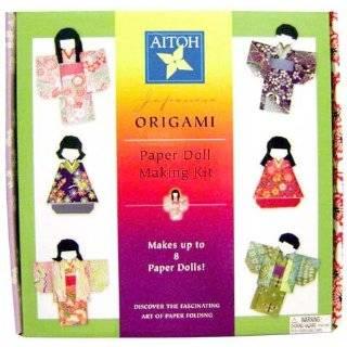 Japanese Origami Paper Doll Making Kit  Make 8 Dolls!