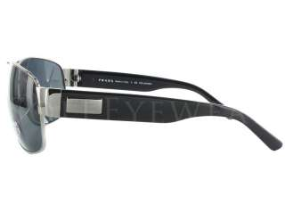 NEW Prada SPR 61L 5AV/5Z1 Black Ruthenium / Polarized Grey Aviator