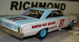 Baker MARTIN GUY MOTORS 67 PLYMOUTH Custom Built 1/32 Scale Slot Car