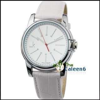 NEW Round Quartz Sport Leather Fashion Lady Woman Wrist Watch Black