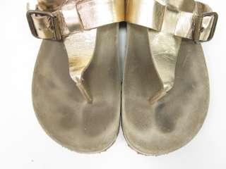 KORS MICHAEL KORS Bronze Metallic Thong Sandals Sz 9