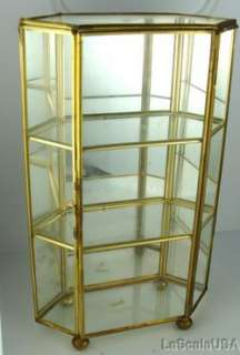 & Glass Table Top Miniature Mini Curio Cabinet Display Case