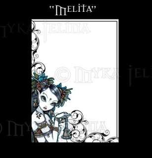 Tribal Fusion Dancer Art Note Paper Stationery Melita