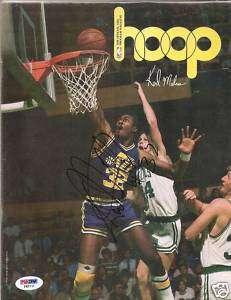 Karl Malone Signed Hoop Magazine Utah Jazz PSA/DNA NBA