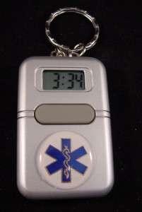 EMS EMT CNA PARAMEDIC TALKING CLOCK ALARM KEYCHAIN NIB