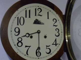 Round Top Striking Railroad Regulator Wall Clock