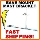 Adjustable Eave Mount TV Antenna Mast Gable Roof Bracket