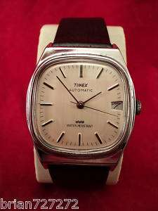 1992 TIMEX AUTOMATIC MENS DATE WATCH ~ NEW STRAP