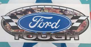 FORD TOUGH   FLAG\CAMO VINYL DECAL \ STICKER   MEDIUM