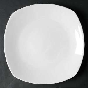 Tabletops Unlimited Quattro White Dinner Plate, Fine China Dinnerware