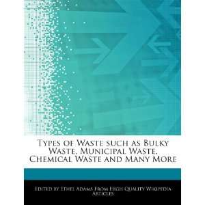 : Types of Waste such as Bulky Waste, Municipal Waste, Chemical Waste