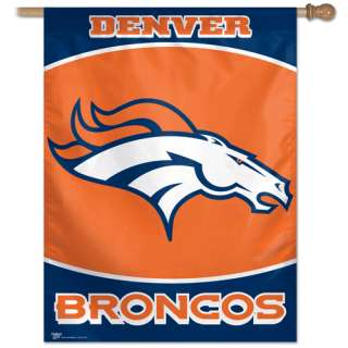 BIG* TEAM HOUSE 27 x 37 BANNER FLAG DENVER BRONCOS NFL FOOTBALL