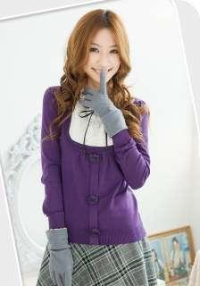 Hot Korean Womens Retro Knit Tops Blouse T shirts X602#