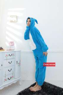 Japan Anime Disney Stich Costume Cosplay Kigurumi Pajamas Pink&Blue S