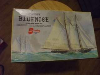 BLUENOSE WOOD SHIP MODEL KIT STERLING COMPLETE UNASSEMBLED w/ BOX
