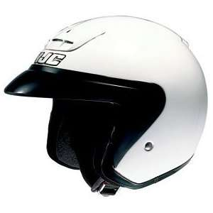 HJC AC 3 Open Face Motorcycle Helmet White Extra Small