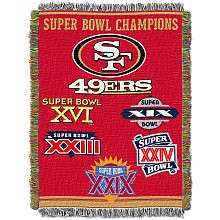 Northwest San Francisco 49ers Super Bowl Commemorative Throw   NFLShop