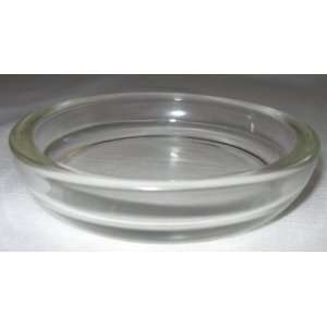 Vintage Clear Glass Circular Shaped Ashtray Everything