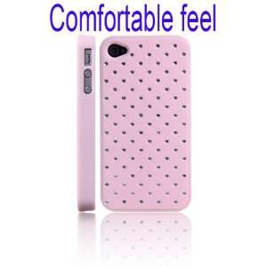 Comfortable Feel Crystal Stars Hard Case for iPhone 4/4S