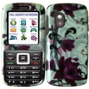 Straight Talk Samsung T401G Hard Cover Case Purple Lily