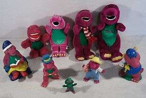 of BARNEY THE DINOSAUR baby bop bj toys figures bank plush A