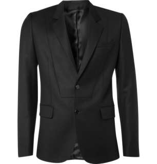 Clothing  Blazers  Single breasted  Bib Detail Wool Blazer