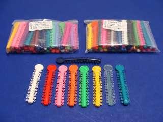Dental Elastic Orthodontic Assorted Color 2Pack/1040 Ligature ELN001