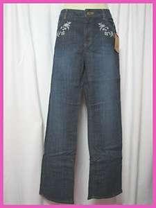 New  Women Snow White Denim Pants Jeans Sz 6