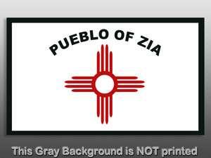 Zia Pueblo Tribe Flag Sticker  decal New Mexico native