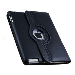 iPad 2 360 Rotating Magnetic Leather Case Smart Cover with swivel