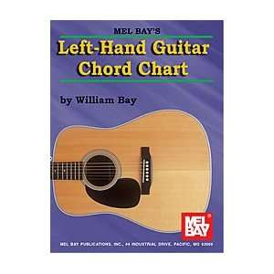 Mel Bay Left Hand Guitar Chord Chart: Musical Instruments
