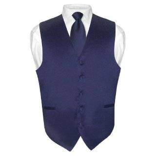 Mens BLACK Dress Vest and NeckTie Set for Suit or Tuxedo Clothing