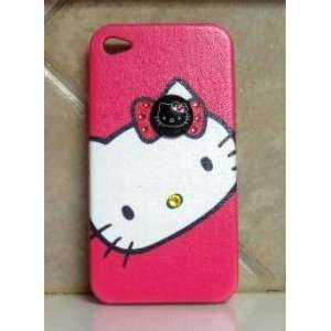 HELLO KITTY IPHONE CASE IPHONE 4G CASE W/ SWAROVSKI CRYSTAL & 3D