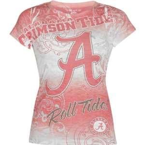 Crimson Tide Womens Sublimation Burnout T Shirt