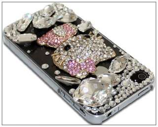 Luxus Hello Kitty Bling Strass Tasche Case Etui Hülle Cover f iPhone