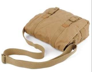 NWT Vintage Canvas/Leather Messenger Bag Womens Mens Shoulder Bag