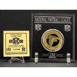 Official 2007 NFL Team Game Coin   Atlanta Falcons  Sports