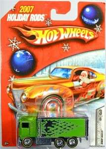 HOT WHEELS HIWAY HAULER 2007 HOLIDAY RODS #L0097 NRFP MINT CONDITION