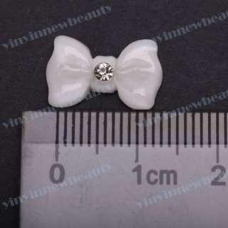 20X 3D Nail Art Diamond Schleife Sticker Steinchen Strass Handy Deko