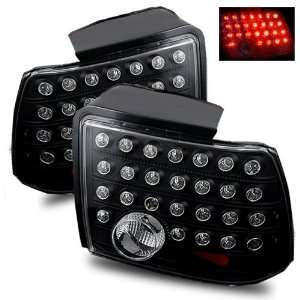 99 04 Ford Mustang Black LED Tail Lights Automotive