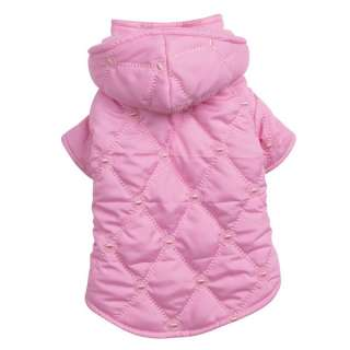 Dog QUILTED PASTEL JACKET Winter Coat Clothing Blue Pink Teacup XXS
